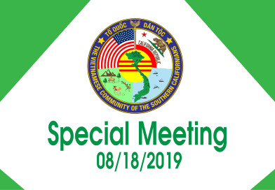 Meeting Minutes: Special Meeting on 08/18/2019