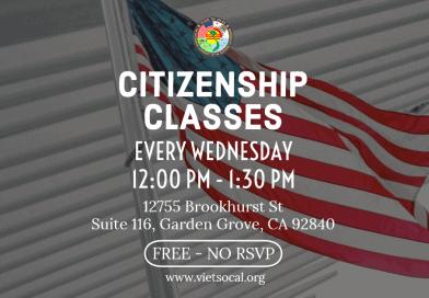 Lớp Học Quốc Tịch Miễn Phí – FREE Citizenship Class 2019-2020