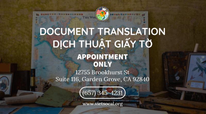 Dịch Thuật Giấy Tờ có Công Chứng – Document Translation